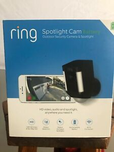 Ring Spotlight CAM Battery HD Security with Two-Way Talk & Siren BLACK