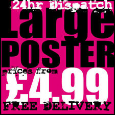 Large Format Wall or Window Poster Printing High Quality 24hr Dispatch Satin
