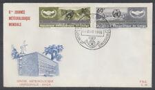 CONGO BELGE FDC 46 - CENTRE METEOROLOGIQUE - 1966 LUXE