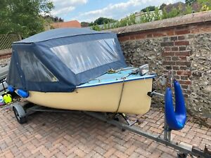 River Motor Boat with Canopy and Trailer - Used