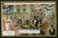 Saint Jean FestivalHorse Carriage  Rome Italy c1907 Trade Ad Card