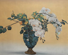 1996 STILL LIFE FLORAL OIL PAINTING SIGNED