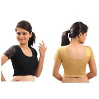 Indian Saree Blouse Ready Made Stitched Designer Wedding Party Wear Choli Top