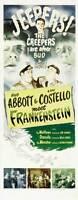 BUD ABBOTT LOU COSTELLO MEET FRANKENSTEIN Movie POSTER 14x36 Insert B Bud Abbott