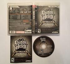 Guitar Hero: Metallica (Sony PlayStation 3, 2009) CIB FAST SHIPPING!