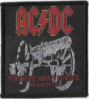 Official Merch Woven Sew-on PATCH Metal Rock AC/DC For Those About to Rock #a