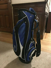 Slazenger 6-Divider Golf Cart Bag with Raincover 1 Strap Multiple Plckets Blue