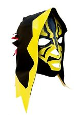 SKELETOR (pro-fit) Adult Lucha Libre Wrestling Costume Mask - Yellow Steelers