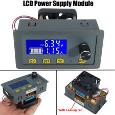 Adjustable 5A LCD Digital Step-Down Power Supply Module 6V-32V to 0-32V + Fan