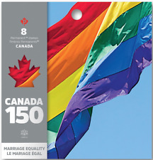Canada 150: Booklet of 8 Permanent Domestic stamps - Marriage Equality - MNH