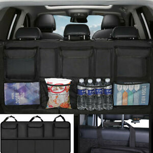 Black Universal Car Rear Trunk Boot Organizer Pocket Cargo Net Mesh Storage Bag