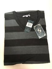 Youstar Mensfield T-Shirt Black/Charcoal Stripes Size S NWT