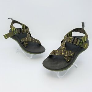 Chaco Z1 Ecotread Kids Green Forest Points Performance Sandals Size US 1 J180241