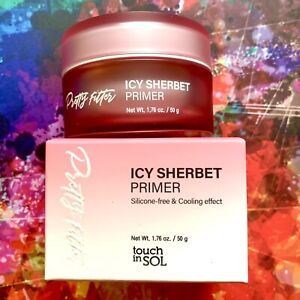 Touch In SOL Pretty Filter Icy Sherbet Primer Silicone Free Full Size 1.76 oz