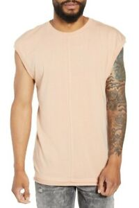 The RAIL Men's Layered Muscle Tank Top Beige size Large/XLarge