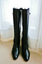 Quasi Neuf Bottes cuir 37,5 HEYRAUD Leather Boot Lederstiefel Stivali Almost New