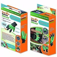 New Garden GENIE Gloves For Digging & Planting With ABS Plastic Claws Gardening
