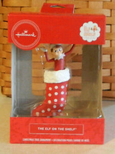 Hallmark 2019 Elf On The Shelf in Stocking Red Box Christmas Ornament