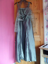 BNWT Cherlone Evening Dress Silver Grey size 18 with Wrap