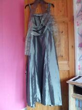 BNWT Cherlone Evening Dress Silver Grey size 18 with Wrap