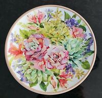 RACHEL ASHWELL Set of(4) Spring colorful Floral Cactus Succulents Melamine Plate