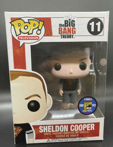 Funko Pop Sheldon Cooper Superman Shirt 2012 SDCC 1000 Piece w/ Hard Stack Rare