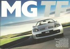 MG TF  Owner´s Manual 2002 Handbook Betriebsanleitung BA