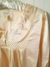 1970's Vintage Barbizon Peach Cuddleskin Long Nightgown Sz S Small New Deadstock