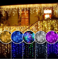 christmas lights outdoor decoration 4m droop 0.4-0.5-0.6m led curtain icicle