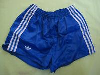 Short Adidas Ventex Bleu Vintage satin brillant Polyamide Epais nylon 80'S - L
