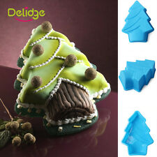 Christmas Tree Cake Mold Pan Muffin Chocolate Pizza Baking Tray Silicone Mould