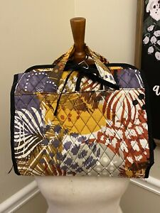 Vera Bradley Hanging Cosmetic Bag in Painted Feathers