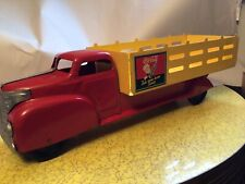 PRESSED STEEL LARGE COCA COLA TOY TRUCK BY MARX TOYS 20 INCH LONG. L@@K!