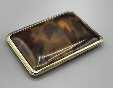 More details for art deco asprey & co london 1932 sterling silver tortoise shell cigarette case