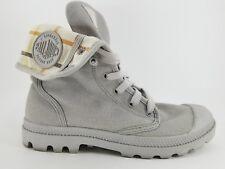 Gray L' Original Depuis 1947 7.5 PALLADIUM Lace up Canvas high top Hike Sneakers