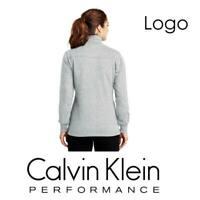 Calvin Klein Performance Logo Fleece Jacket 1/2 zip Women's Grey  PFST1896 M
