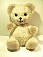 "vtg russ berrie SNUGGLE teddy bear 11"" hand puppet plush bear unique htf euc"
