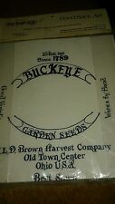 """New listing Feed Sack Art 12"""" x 13"""" Fabric Panel for Decorative and Tole Painting Buckeye"""