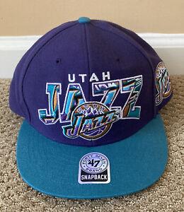 NWOT Utah Jazz 47' Brand Snap Back NBA Hardwood Classics Throwback Hat Cap