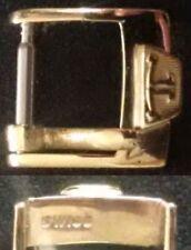 Original Jaeger LeCoultre Buckle 2 Fibbia 10mm inner YellowGP Light signs L@@K !