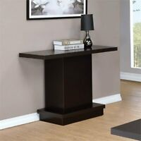 Elegant Hallway Console Table Side Sofa Pedestal Lamp Stand Display Wooden Brown