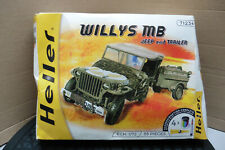 HELLER 1/72 WILLYS MB JEEP & TRAILER  MODEL KIT BOXED 71234