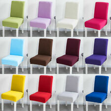 Stretch Dacron Fabric Dining Room Wedding Decor Kitchen Home Chair Seat Covers