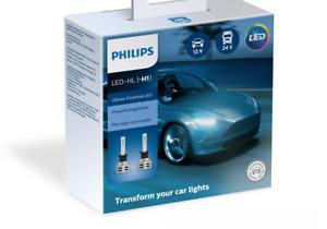 PHILIPS H1 LED Ultinon Essential Car Headlight Bulbs 6500K White