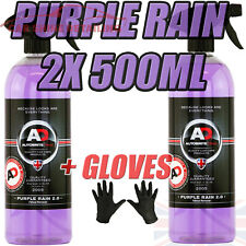 Purple Rain 2x500ml Autobrite Direct, Alloy Wheel Cleaner Iron Remover +GLOVES