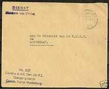 Netherlands1947 Service cover Camp Muiderberg  VF