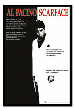 Scarface Poster Black Framed Ready To Hang Frame Free P&P