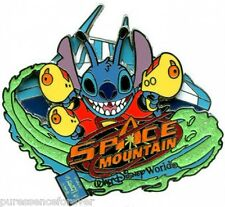 WDW E-Ticket Attractions - Space Mountain/Stitch LE 1500 Pin