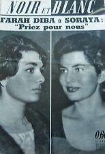FARAH DIBA et SORAYA en COUVERTURE de NOIR et BLANC No 805 DE 1960
