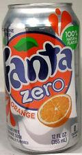 FULL NEW 12oz 355ml American Can Coca-Cola's Fanta Orange Zero USA 2012